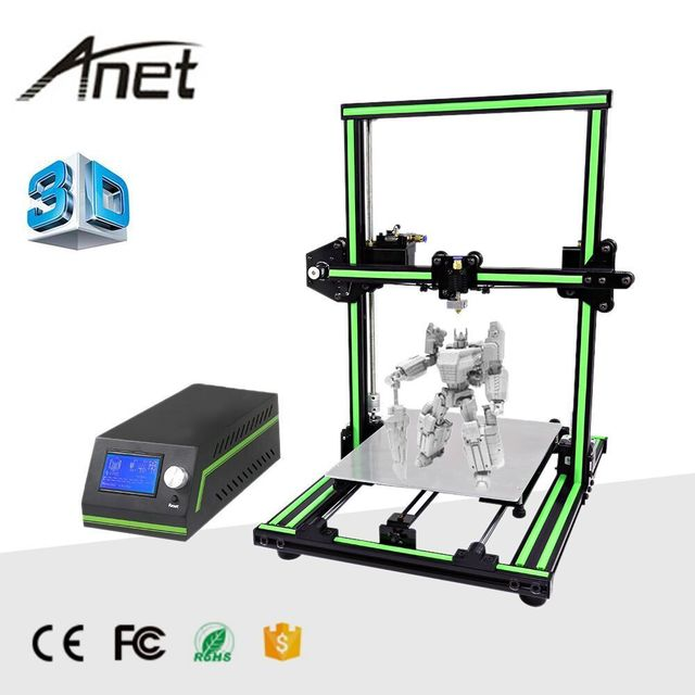 LCD Display Professional 3D Printer High Precision Aluminum Alloy Frame Large Printing Size DIY 3D Printer Kit 1