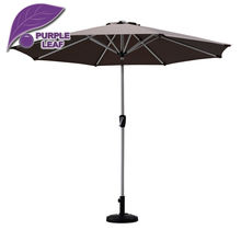 Purple Leaf Market patio umbrella balcony parasol garden outdoor sombrilla de playa 9ft  Table Cafe Beach Round no base