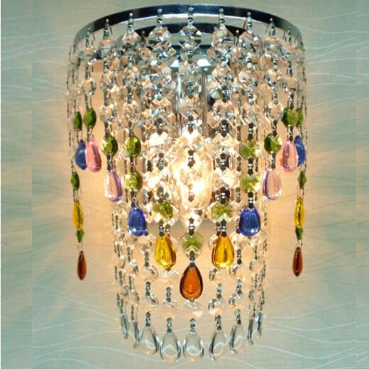 € 39.4 |Livraison gratuite crystal applique, cuisine toilettes, vintage  moderne cristal appliques avec interrupteur 110 240 V coloré cristaux dans  Mur ...