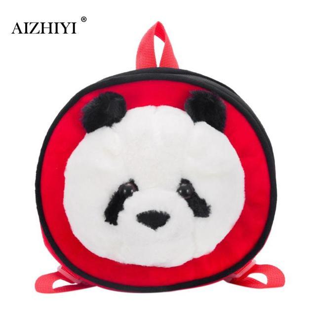 Cute Panda Round Backpack Children Mini Plush Cartoon Girls Backpacks Kids  2018 Travel Shoulder Schoolbag Rucksack Birthday Gift 9572a85da88b0