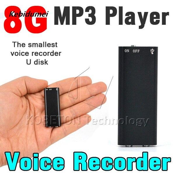 Kebidumei маленький 8 ГБ Профессиональный голос Регистраторы Цифровой Аудио Mini диктофон + MP3-плееры Регистраторы ручка диктофон