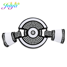 Juya DIY Jewelry Findings Enamel Round Decorative Element Connector Accessories For Women Pearls Natural Stones Jewelry Making