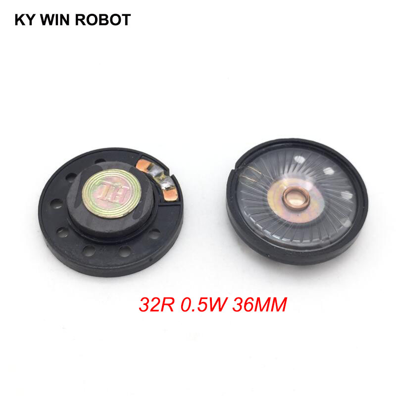 Purposeful 2pcs New Ultra-thin Speaker Doorbell Horn Toy-car Horn 32 Ohms 0.5 Watt 0.5w 32r Speaker Diameter 36mm 3.6cm Thickness 9.2mm Electronic Components & Supplies Acoustic Components