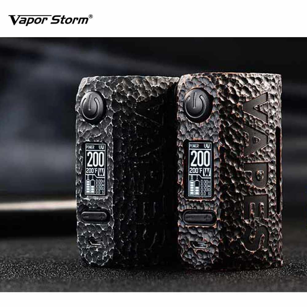 E-cigs Vapor Storm Puma Stone Mod Max 200w bypass/ss 8 Modes ecigarette boxing mod Vape Mod By Dual 18650 VS Vapor Storm цена
