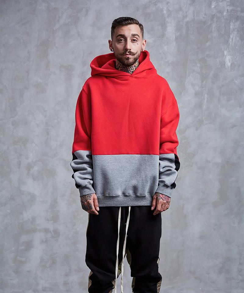 Color Block Patchwork Fleece Hoodies 4