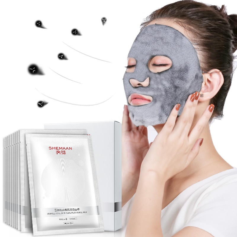 Charcoal Mask To Clear Pores And Detox Skin: Detox Oxygen Bubble Sheet Mask Korean Cosmetic