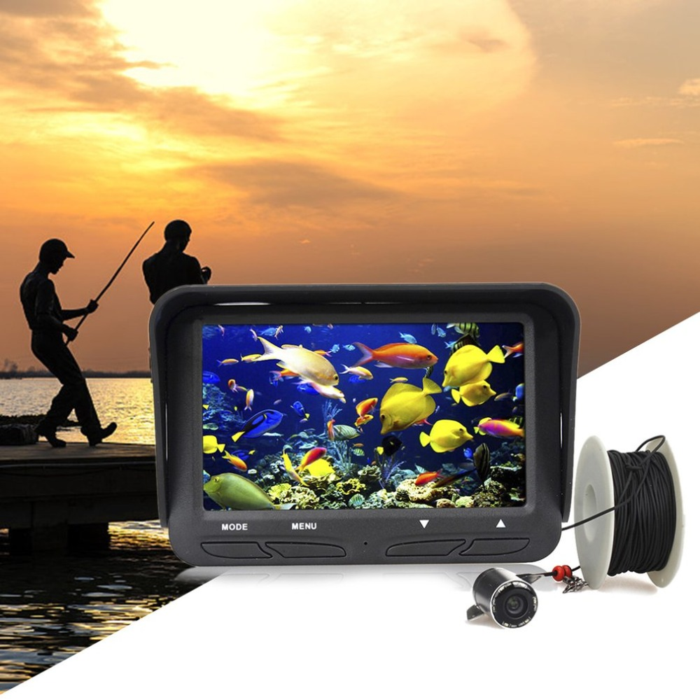 4.3 LCD Screen 30m Cable Fish Locator HD Video Camera Fish Finder Detector Waterproof Underwater Camera Night Vision
