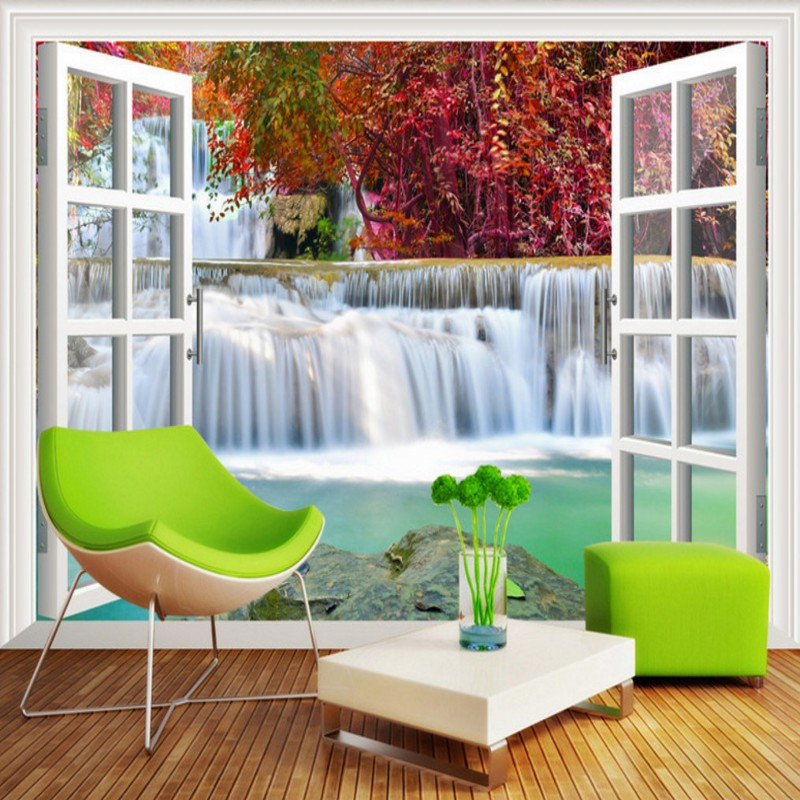 Free Shipping Waterfalls flowing water 3D background wall living room  wallpaper mural home decoration coffee housePopular Waterfall Coffee Buy Cheap Waterfall Coffee lots from  . Living Room Waterfall. Home Design Ideas