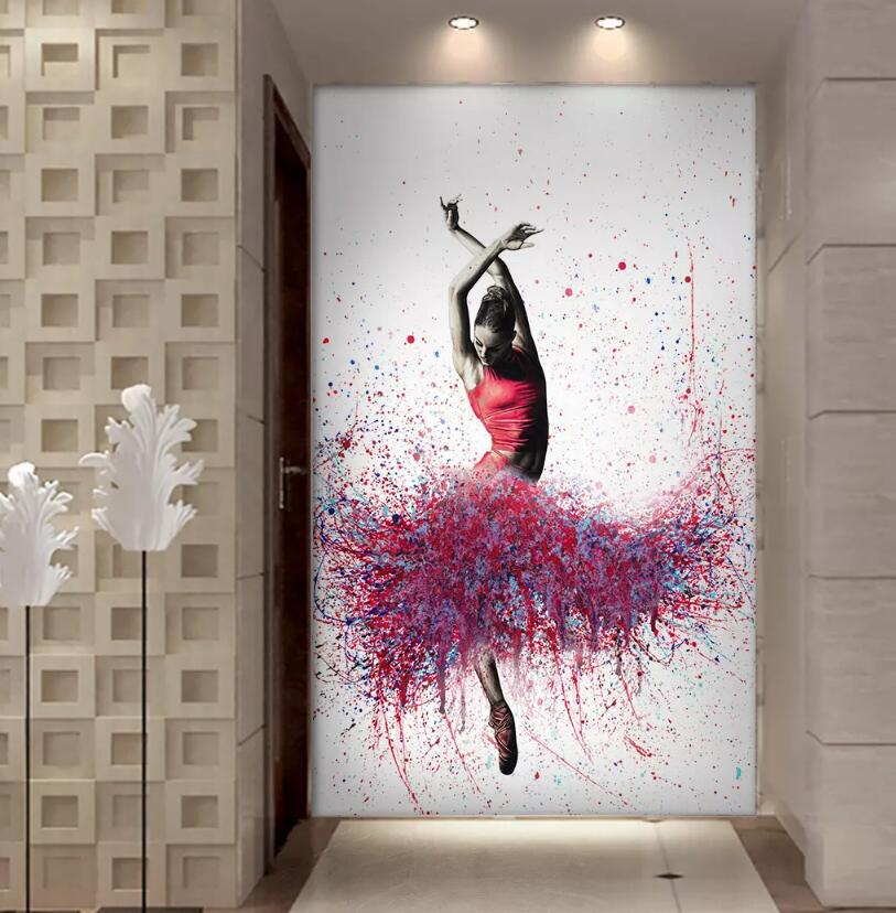 Large Canvas Oil-Painting Dancing Abstract Ballerina Printed Multi-Choices Elegant HD title=