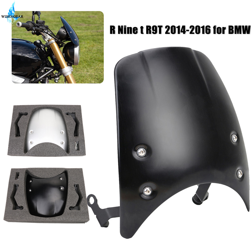 Aluminum Windshield Windscreen Wind Protection For BMW R Nine T R9T 2014 2015 2016 2017 R NINET Headlight Fairing Guide PlateAluminum Windshield Windscreen Wind Protection For BMW R Nine T R9T 2014 2015 2016 2017 R NINET Headlight Fairing Guide Plate