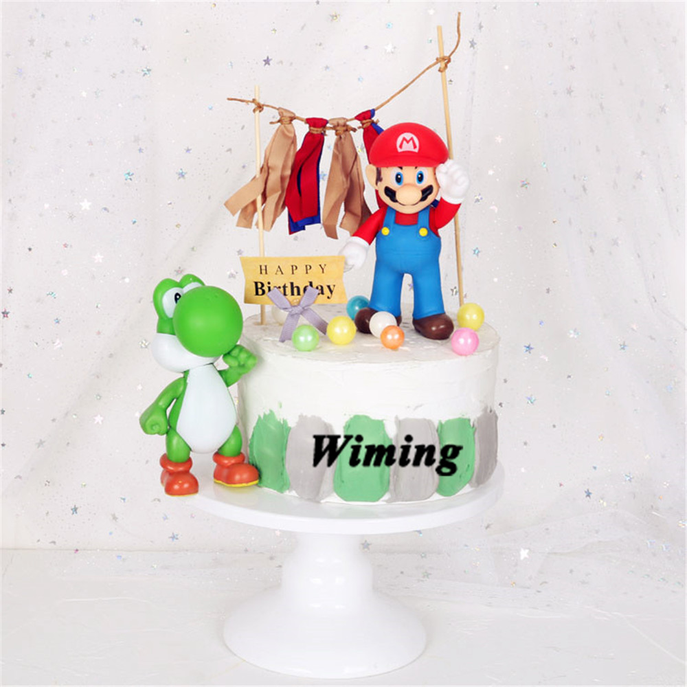 Magnificent Super Mario Bros Toys Cake Topper Birthday Cake Decorating Funny Birthday Cards Online Bapapcheapnameinfo