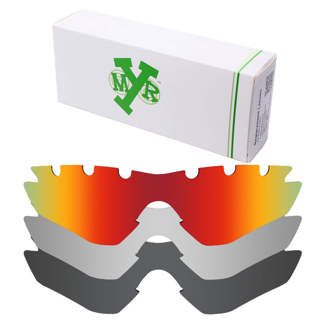 d3604c5ac67 3 Pieces Mryok POLARIZED Replacement Lenses for Oakley M2 Frame Vented  Sunglasses Stealth Black   Fire