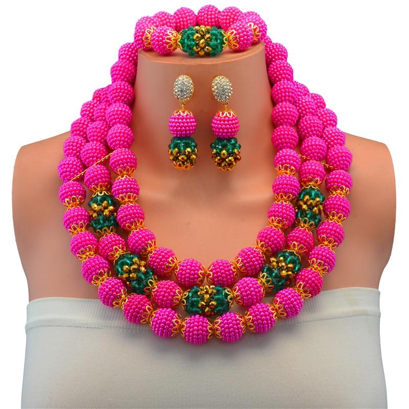Splendid 2017 New Purple Crystal Costume Necklaces Nigerian ...