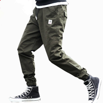 Men Corduroy Patchwork Pockets Cargo Pants 2019 Harem Joggers Harajuku Sweatpants Hip Hop Streetwear Trousers 5XL 6XL 7XL
