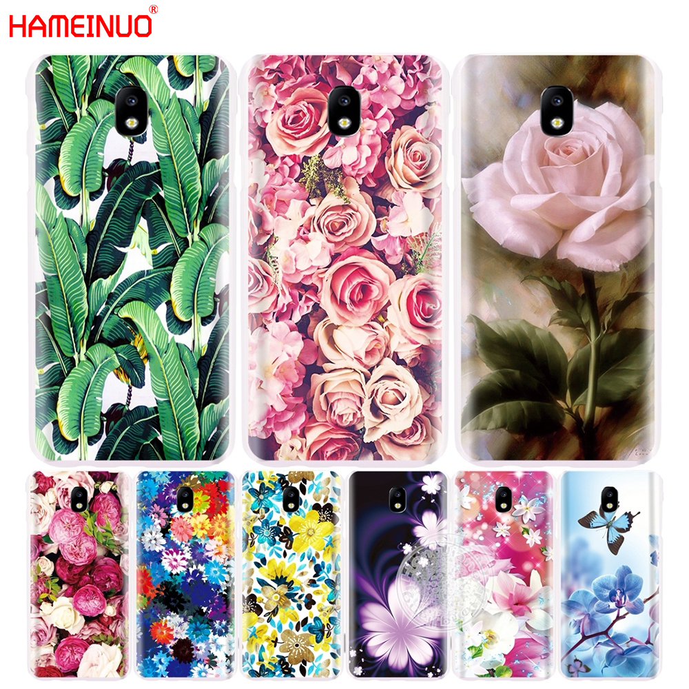 Hameinuo розы Пион банановые листья крышка телефона чехол для Samsung <font><b>Galaxy</b></font> J5 J7 2017 j527 j727 j327 <font><b>J3</b></font> премьер j330 j530 j730