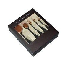 Овальная туалетные румяна кистей фонд комплекты косметика макияжа форма кисти зубная