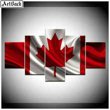 5 spell diamond paintings Canada flag full square drill sewing art mosaic embroidery eagle