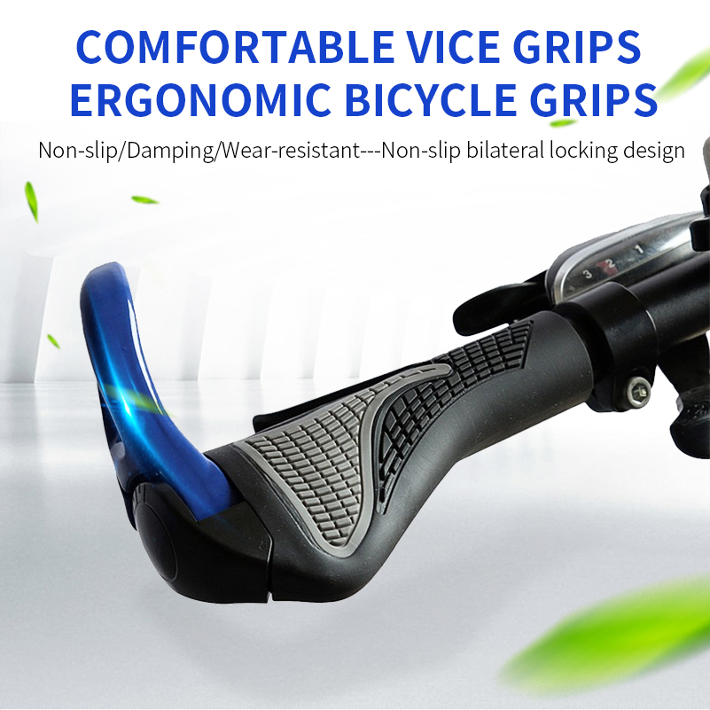WEST BIKING MTB Bike Grips Anti-Skid Ergonomic Bicycle Grips Bike Bar ends Handlebars Rubber Push On Bicycle Parts Cycling Grips 13