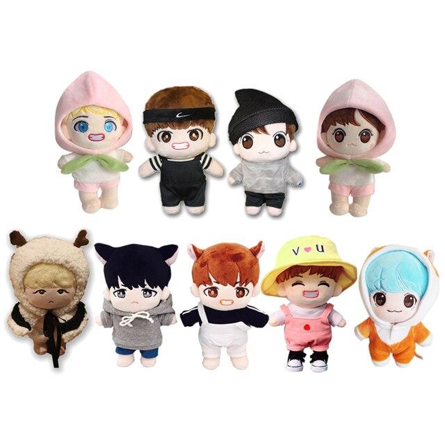 2019 Coreia Do Hip Hop Suga Jungkook V Kim Tae Hyung Min Yun Ki Stuffed Plush Toy Boneca com Conjunto Completo roupas Fãs Presente Novo