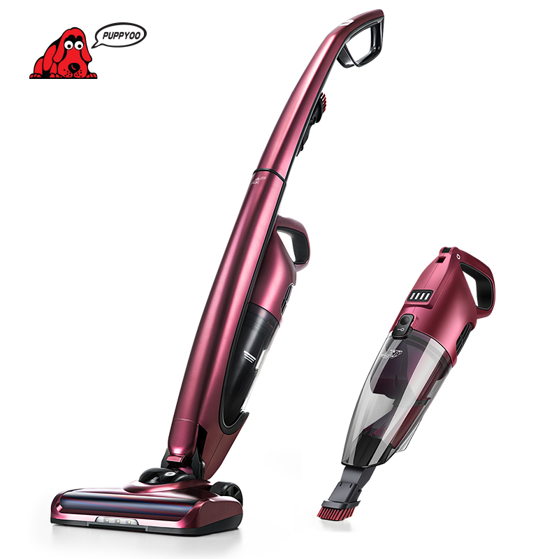 PUPPYOO Cordless Stick Vacuum Cleaner 2 in 1 Rechargeable Handheld Vac WP511  w s018 2 in 1 swivel cordless electric robot cleaner