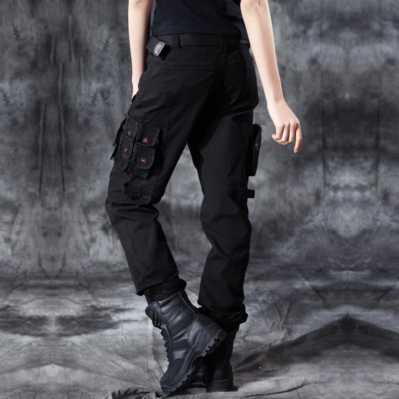 New Fashion Style Autumn-Summer Denim Black Loose Pants Jeans Baggy Cargo Pants For Women Girls