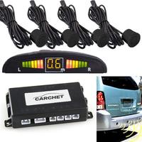Car LED 4 Sensor Parking Reverse Backup Reversing Radar Radar Detectors Car Electronic