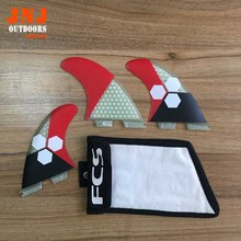 Nice looking quality FCS II fins with fiberglass honeycomb for surfboard FCS II G5 fin 002 size M with strong bag