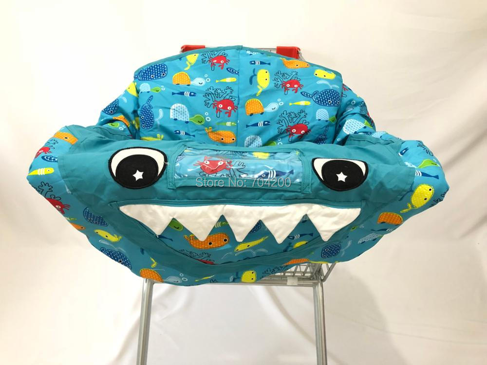 3в1 покрывало для магазиннной тележки с акулой/чехол для стульев/игровой коврик Защитная Подушка полная безопасность жгут универсальная посадка Складная для ребенка