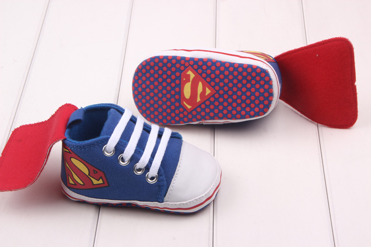 Baby Sportskor Superman Småbarn Antislip Skor Canvas Sneakers Baby Spädbarn Skor Batman First Walkers