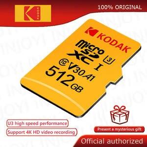 Micro-Sd-Card Flash Class Cartao U3 Kodak De High-Speed C10 64GB Original 512GB 32G 128GB