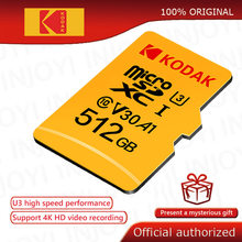 Originele Kodak 512Gb Micro Sd-kaart Class 10 16G 32G 64Gb U3 4K Hoge Snelheid cartao De Memoria Flash Memory TF128gb Mecard C10 1Tb
