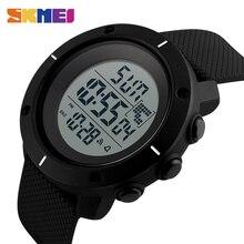SKMEI Hombres Grandes Dial Deportes Relojes Multifunción Cronómetro 50 M Resistente Al Agua Reloj Fecha relojes de Pulsera Digitales 1213