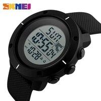 SKMEI Homens Esportes com Discagem Grandes Relógios Multifunções Chronograph 50 M Resistente À Água Relógio Despertador Data Digital Relógios De Pulso 1213