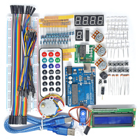 2017 New UNO R3 Board Project Super Starter Kit For Arduino Stepper Motor 1602 LCD DIY