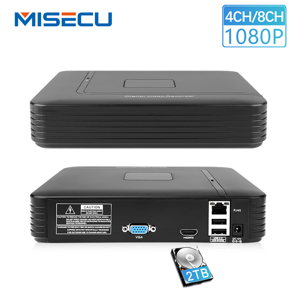 MISECU Neue 4Ch 8Ch Mini NVR Full HD echt P2P Alone CCTV NVR 1920*1080 P ONVIF Für 1080 P 960 P 720 P IP Kamera Sicherheit System