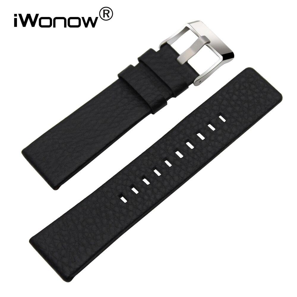 Genuine Leather Watchband 20/24/26/27/28mm +Tool for DZ7313/7322/7257 Watch Band Wrist Strap Steel Buckle Bracelet Black Brown