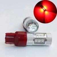 2x 80W RED T20 7443 W21 5W SMD High Power LED Car Auto Brake Signal Tail