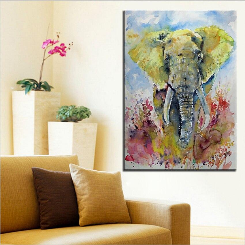de gran tamao de impresin de la pintura al leo del elefante en oro pared pintura