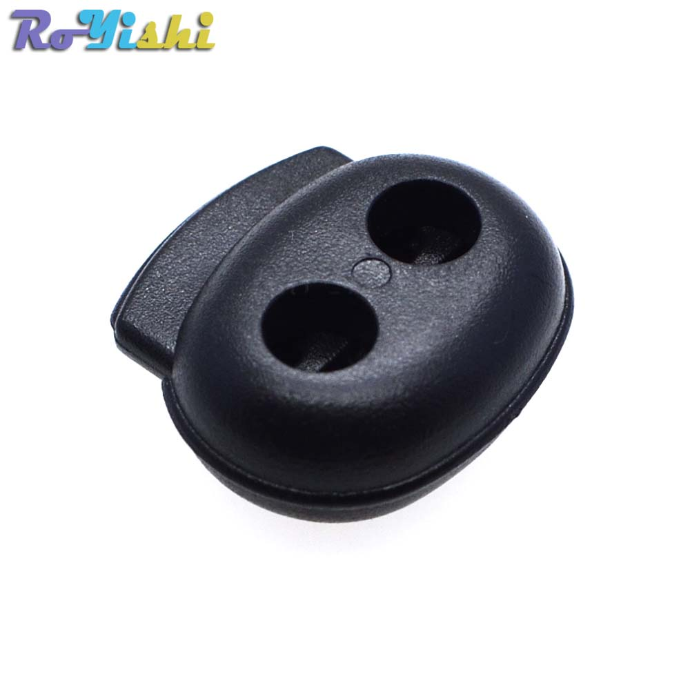 1000pcs pack Plastic Cord Lock Stopper Toggle Clip Black 18mm 19mm 6 5mm