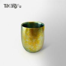 Pure Titanium Double-wall Tumbler Japanese Gift Gold Vacuum Water Cup Beer Coffee Tea Sake Tikungfu Hot Sale Free Shipping