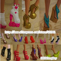 Free Shipping, 5pairs Monster High Doll Shoes(ship at random styles)
