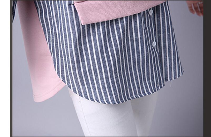 HTB1c1ksQXXXXXXXXpXXq6xXFXXXQ - 2017 Spring Blouses Shirt Female Long Sleeve Casual Striped