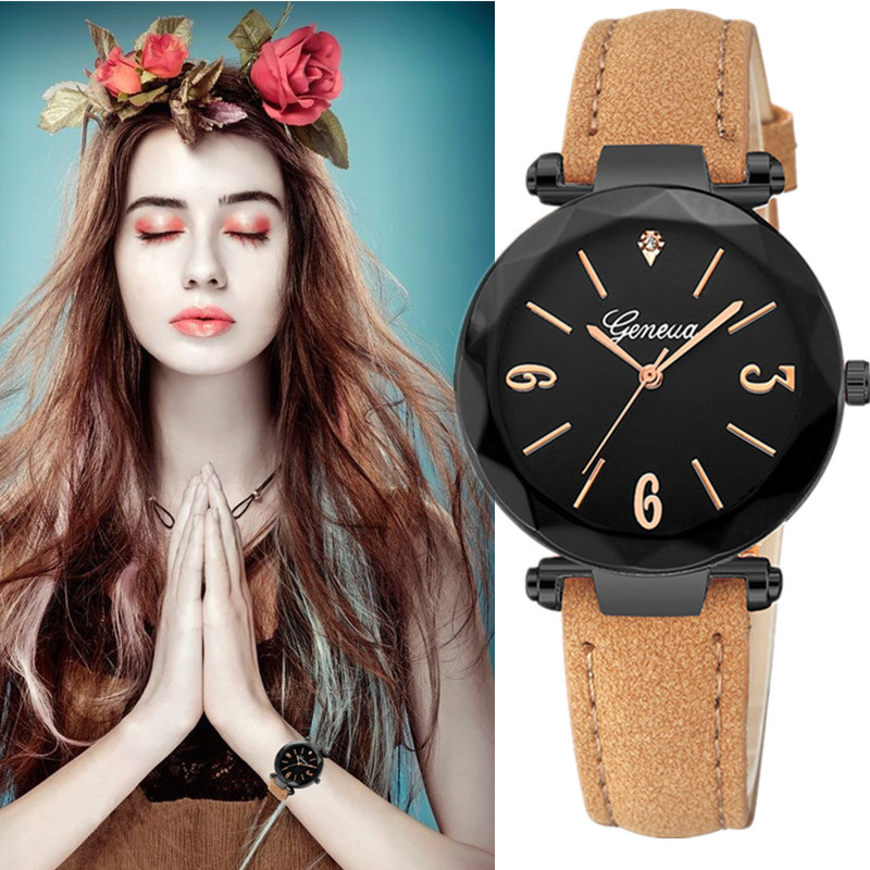 Geneva Watch Women Watches Ladies 2019 Brand Luxury Famous Female Clock Quartz Watch Wrist Relogio Feminino Montre Femme Saat