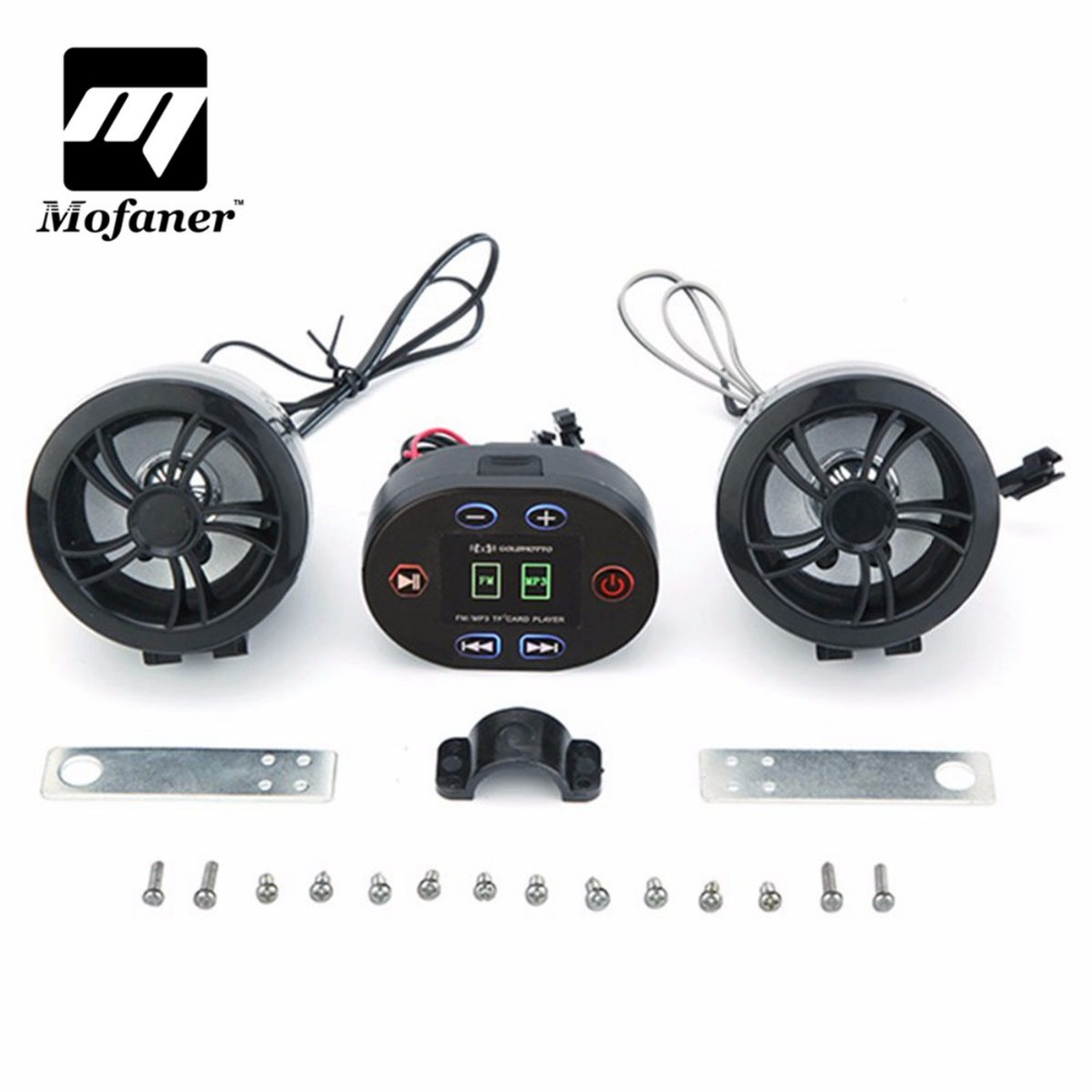 Mofaner Waterproof MP3 Motorcycle Scooter Radio Stereo Sound System with Bluetooth Radio Function USB