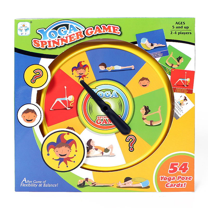New Yoga Pose Cards Flexibility Balance Spinner Game Indoor Sport Toy Fun Social Interaction Toys kids Ability Skill Gift image