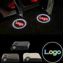 JURUS 2Pcs Wireless LED Logo Door Light Welcome Laser Projector Logo For Subaru For Scania Logo For Citroen Led Ghost Shadow