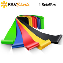 5Pcs/Set Resistance Bands Yoga Estiramientos Exercise Workout CrossFit Fitness Stretching Yoga Back Exercise Equipment Set of 5