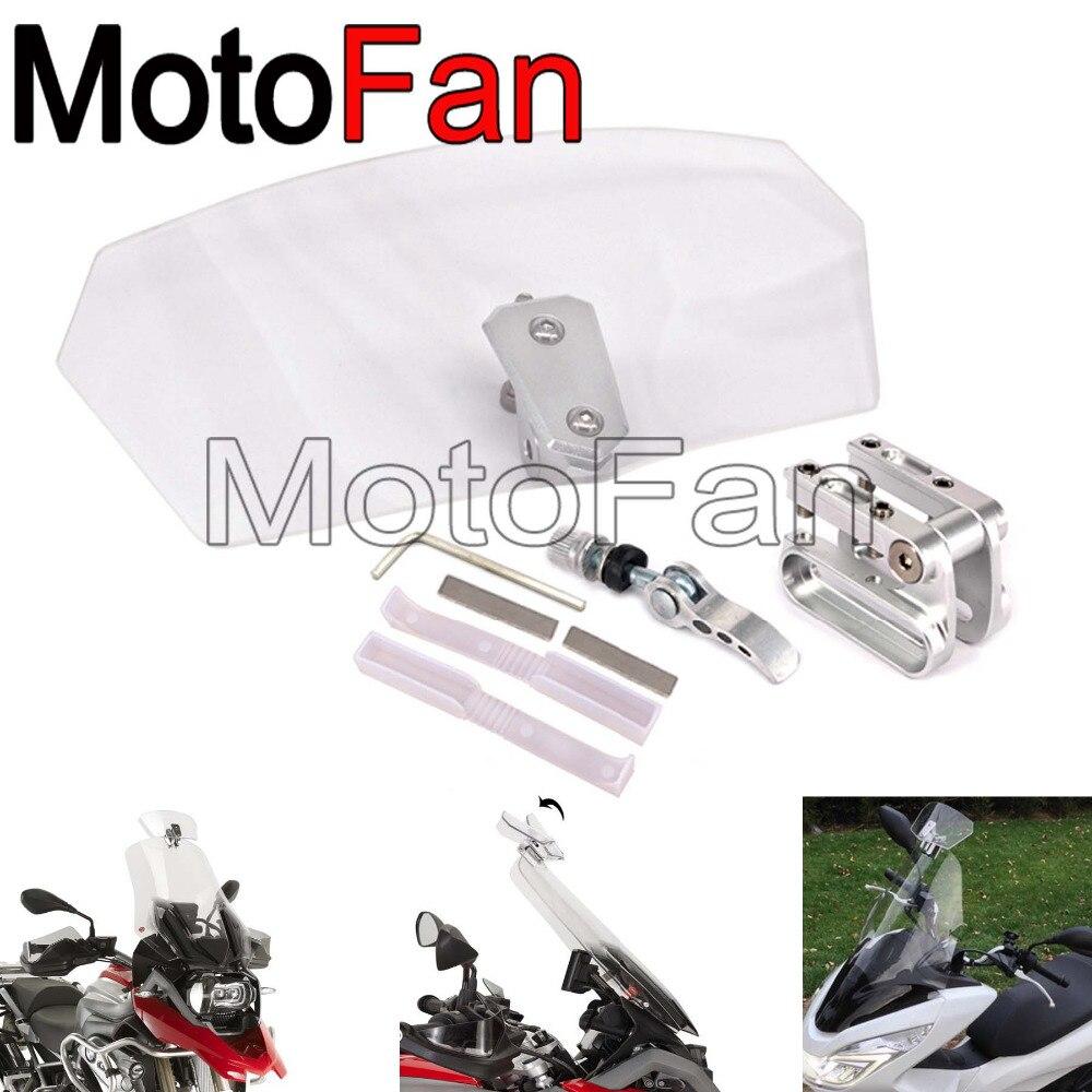 Best мотоцикл стекла расширение спойлер ветер Экран Extender запасные unversal для Harley Davidson BMW honda