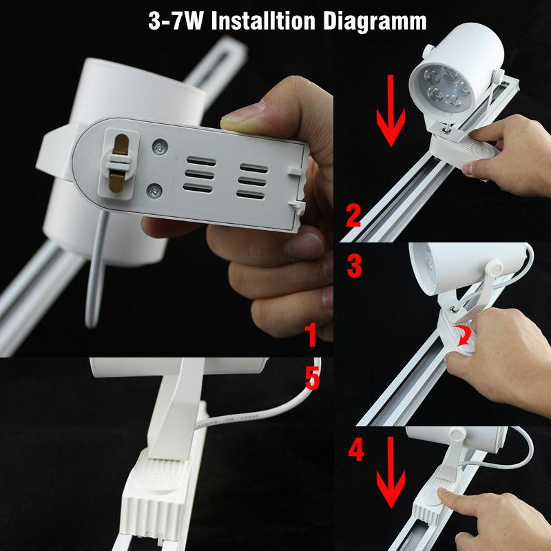 Led spotlight 3W 5W 7W 9W 12W 15W 18W track light LED lamp track ...