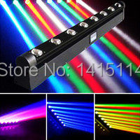 2pcs/lot 8pcs*10W 4 IN 1 RGBW LED beam moving head light 8 heads led beam bar light(China)